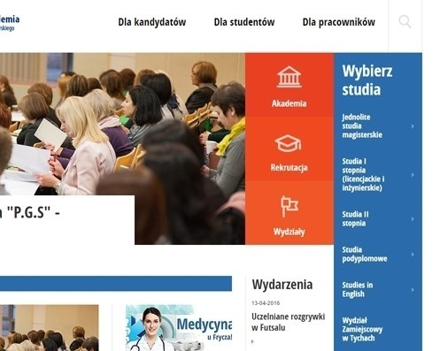 Webseite for Krakow University